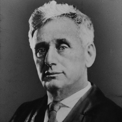 "Louis Brandeis was born in Kentucky on November 13, 1856. He graduated from Harvard Law School at the age of 20, and quickly became known as ""the people's lawyer"" for fighting for workers' rights and breaking up monopolies. President Woodrow Wilson appointed him to the Supreme Court in 1916, and his decisions affirmed individual liberty and opposed unchecked governmental power. He died in 1941."