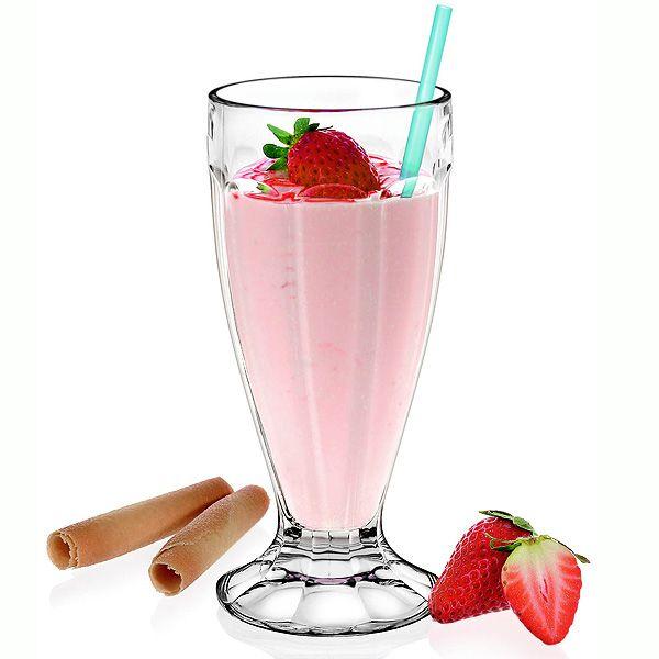 Milkshake Soda Glass 12oz / 340ml | Soda Fountains Retro Milkshake Glasses - Buy at drinkstuff