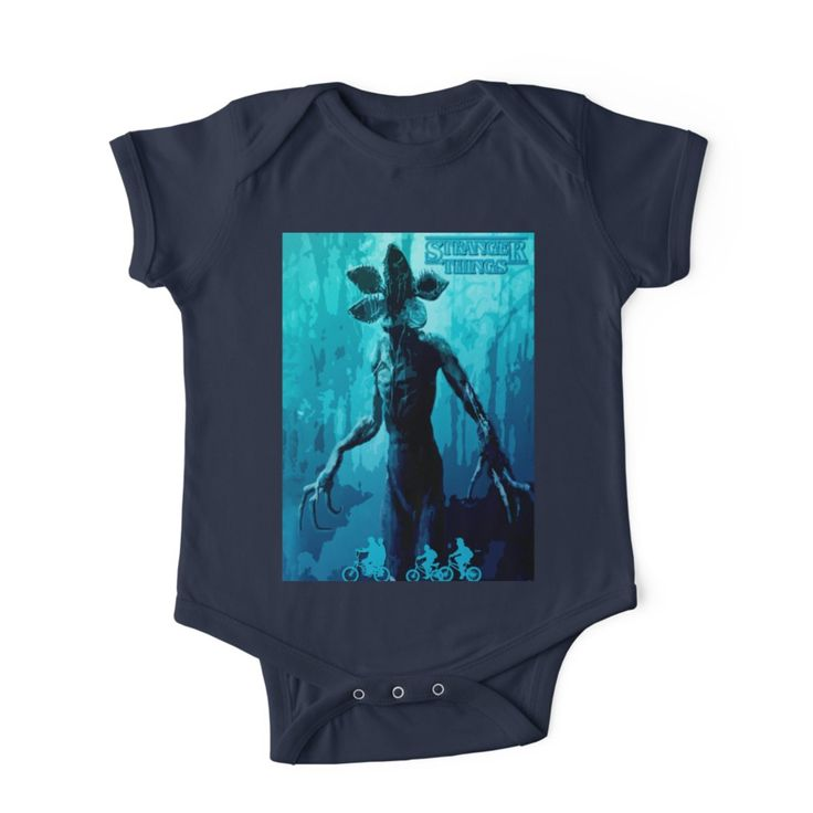 Stranger Things Poster (blue Nightmare)Baby Onesie by scardesign11. #strangerthings #baby #onesie #popular #retro #cool #blue #babyclothes #clothing  #gifts #babyclothes #redbubble #theupsidedown #monster #family #shopping #style #kids #awesome #gifts  #39 #strangerthingstshirt #giftsforhim #giftsforher #babygifts #tvshow #series #scifi #babyboy #mom #dad #uncle #aunt #badass