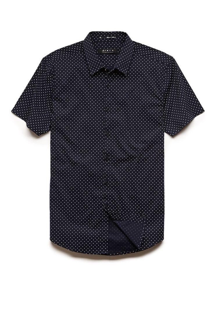 Dotted Slim Fit Shirt | 21 MEN #21Men