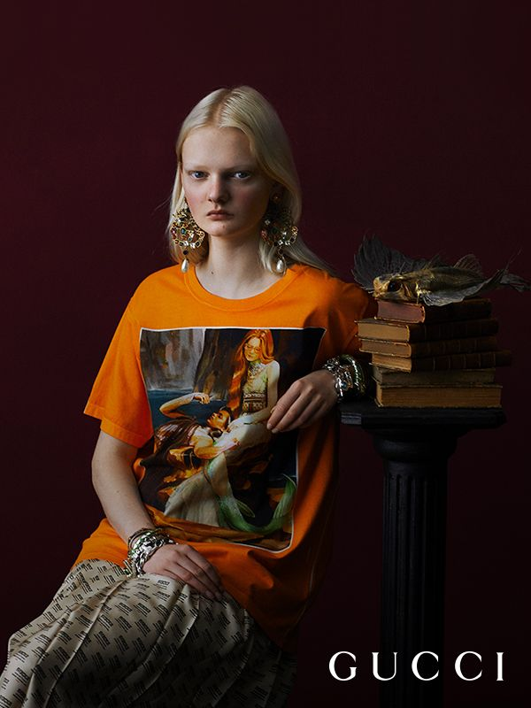 2b73b078 Photographer Julia Hetta portraits with a Flemish Renaissance style mood,  the limited edition #GucciHallucination line featuring Ignasi Monreal's  artworks.