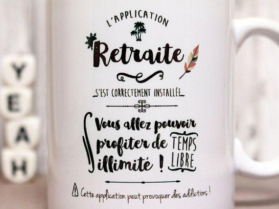 Mug tasse personnalisable L'application retraite by PIOUcreations