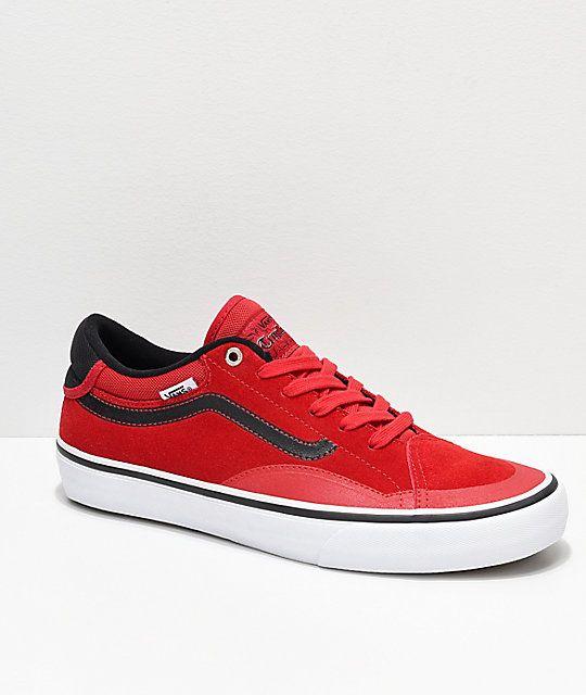 87fce5955 Vans TNT ADV Prototype Racing Red   White Skate Shoes