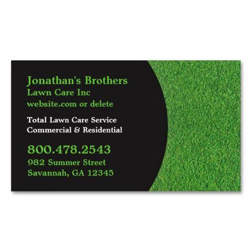 Lawn care business cards lawn care business cards for Garden maintenance tips