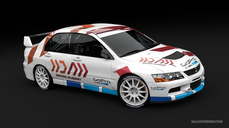 Driving Academy Martin Semerád (Mitsubishi Lancer Evo IX) - wrap design.