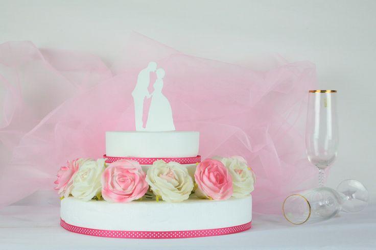 Bride & Groom Cake Topper Design #1