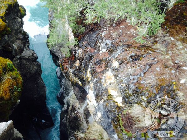 Nipika Mountain Resort - natural bridge, canyon which borders Kootenay National Park in B.C. Canada