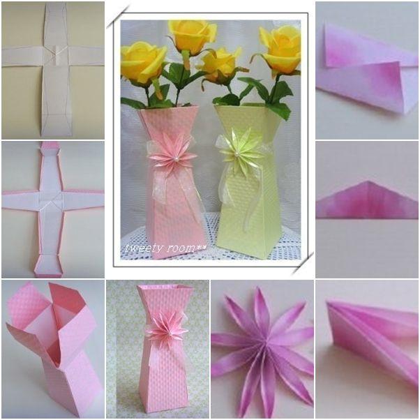 Paper flower vase tutorial selol ink paper flower vase tutorial mightylinksfo