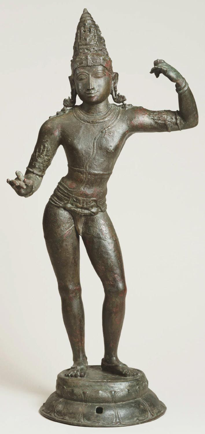 Philadelphia Museum of Art - Collections Object : Rama Geography: Made in Tamil Nadu, India, Asia Period: Chola Dynasty (c.800-c.1300) Date: c. 1000 Medium: Bronze Dimensions: 30 x 13 1/2 x 9 3/4 inches (76.2 x 34.3 x 24.8 cm) Curatorial Department: South Asian Art Object Location: * Gallery 224, Asian Art, second floor Accession Number: W1982-106-1 Credit Line: Purchased with the W. P. Wilstach Fund, the John D. McIlhenny Fund, and with funds contributed by the Women's Committee of the…