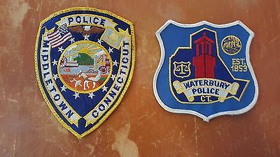 Waterbury And Middletown Police Patches - Connecticut (Ct)