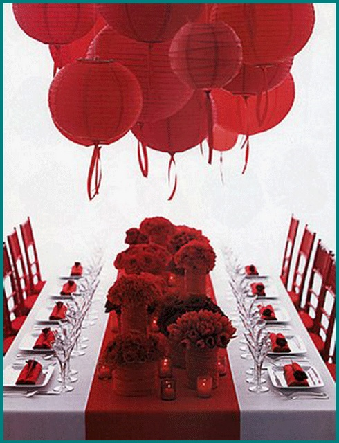 Love the red theme for Valentine's day