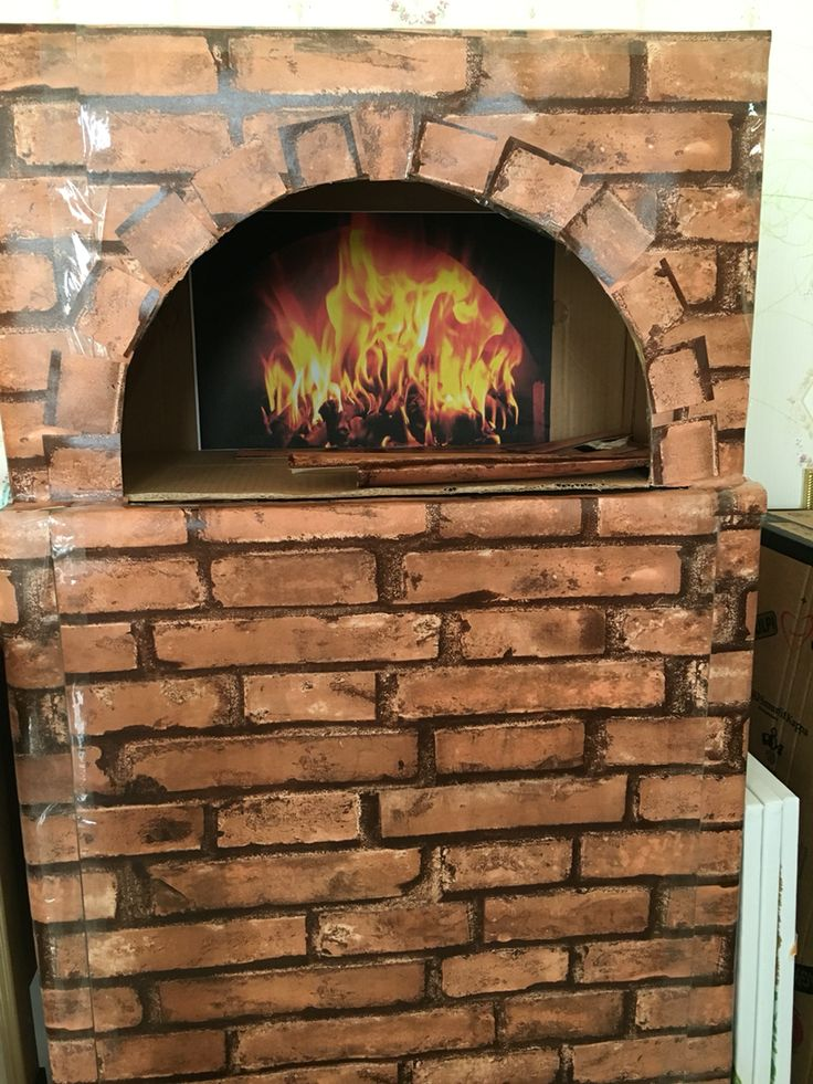 traditional oven made of cardboard and covered with wall paper,,