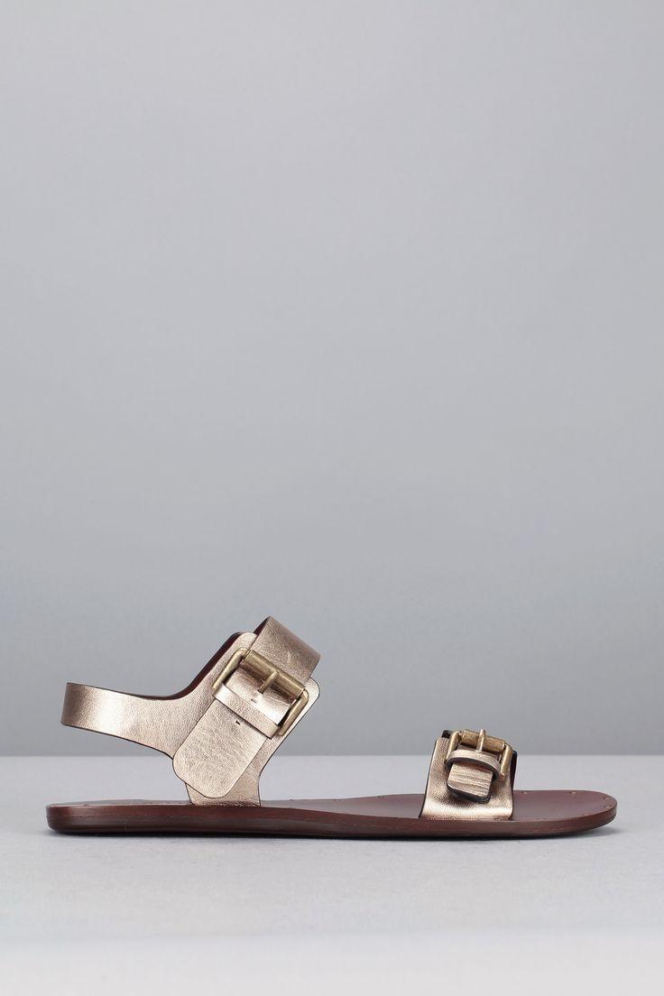 Sandales dorées cuir