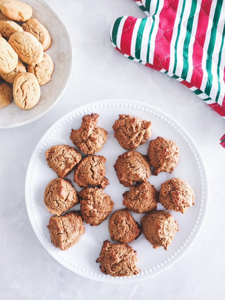 INGREDIENTS  6 Tbsp. coconut sugar 1/3 cup brown sugar 1/4 cup coconut oil 1/2 tsp. vanilla 1/4 cup egg whites 2 cups almond meal or flour 1/2 tsp. baking powder 1/4 tsp. ground cinnamon (plus more for garnish) 1/8 tsp. salt coconut oil spray