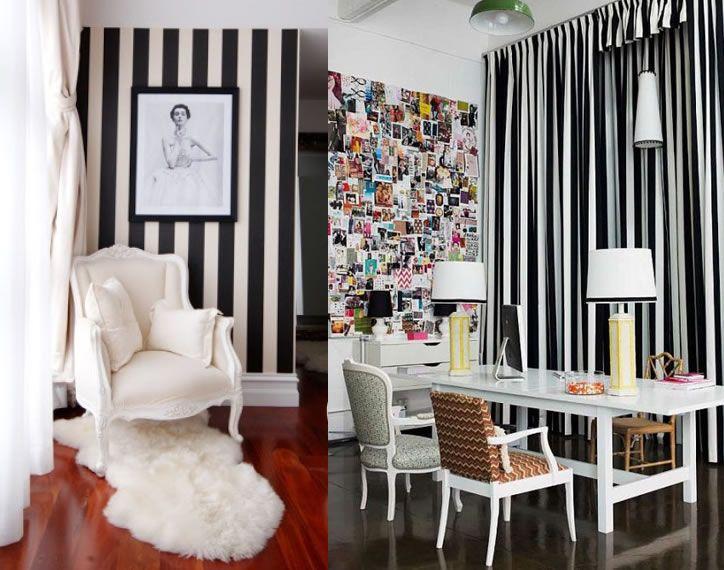 Instant Chic Black White Cabana Stripes
