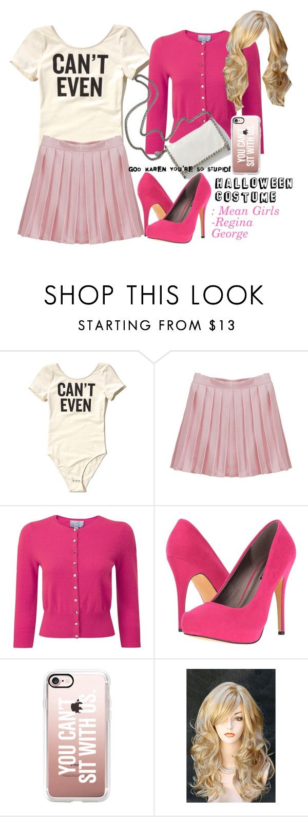 """""""Halloween Costume: Mean girls- Regina George"""" by darling-ange1 ❤ liked on Polyvore featuring Hollister Co., Pure Collection, Michael Antonio, STELLA McCARTNEY and Casetify"""