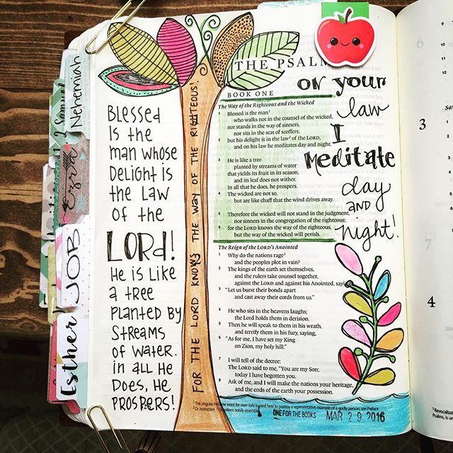 Psalm 1:1-6  #thankyoujesus #illustratedfaith #biblejournalingcommunity #biblejournaling #journalingbible