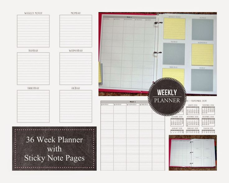 Weekly Calendar Sticky Notes : Homeschool planning my weekly planner middle beginnings