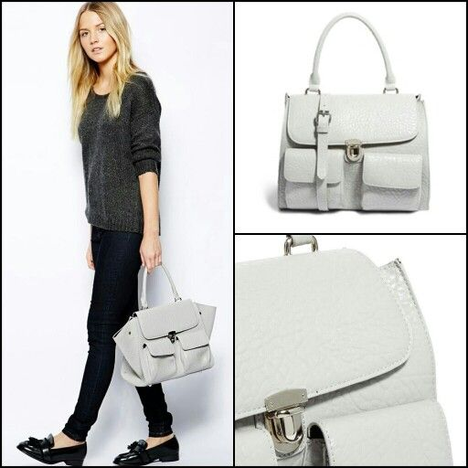 Bolso blanco de Pieces.