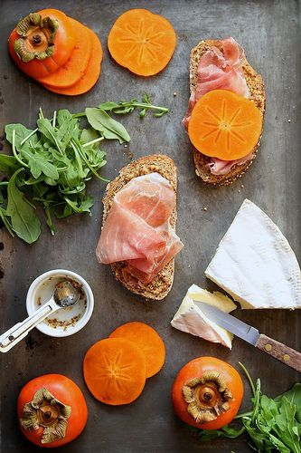 Persimmon, Prosciutto and Brie Grilled Cheese