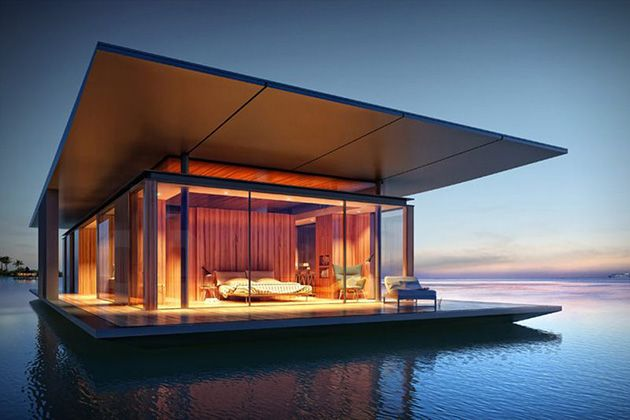 Yüzen Ev Hayal Edenler İçin Yaratılmış #architecture #floatinghouse #sea