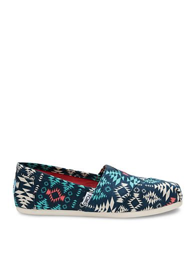 Love these TOMS® Classic Slip-ons in Blue Blanket Print. With every pair of shoes you purchase, TOMS will give a new pair of shoes to a child in need.