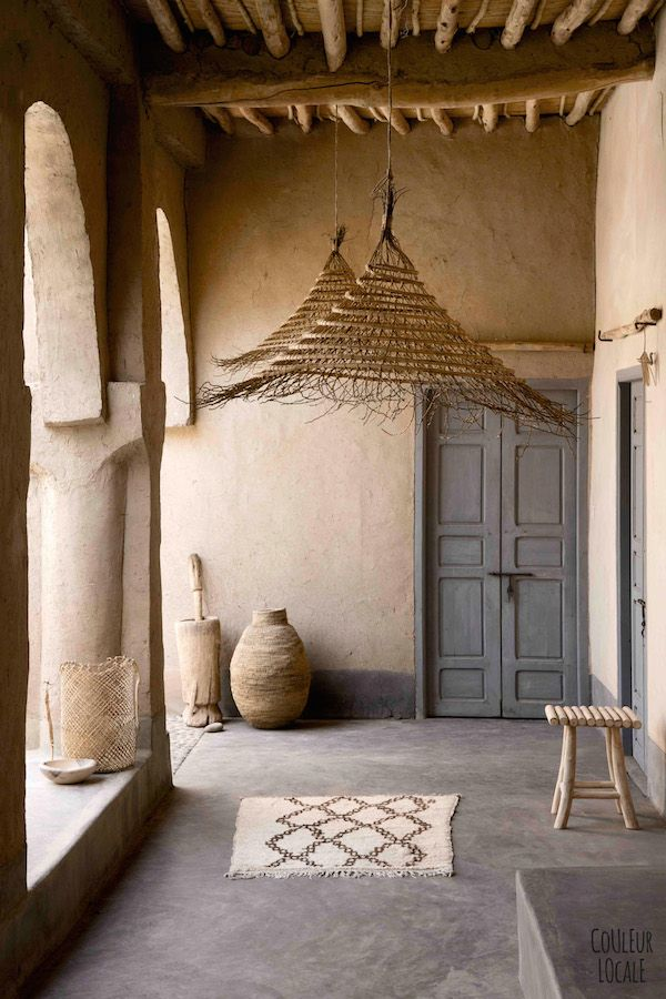 DAzulterrA l The Atmosphere in a Moroccan  house decorated by the couple behind the brand  COLEUR LOCALE