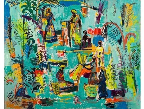 Walter Battiss, African Figures