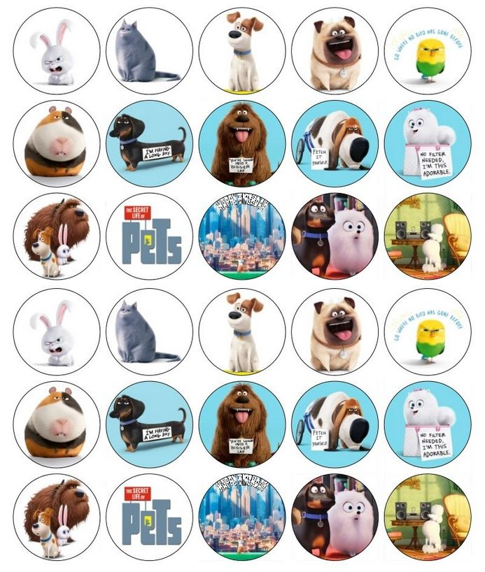 It is a photo of Luscious Secret Life of Pets Printables