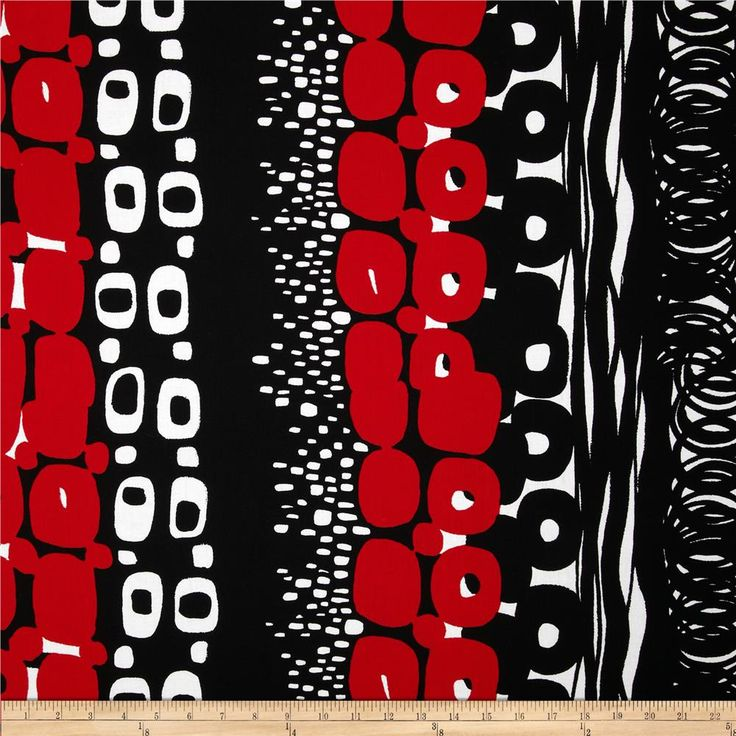 Black white otto black red from the deleon design group for alexander henry this cotton print fabric is perfect for quilting apparel and home décor