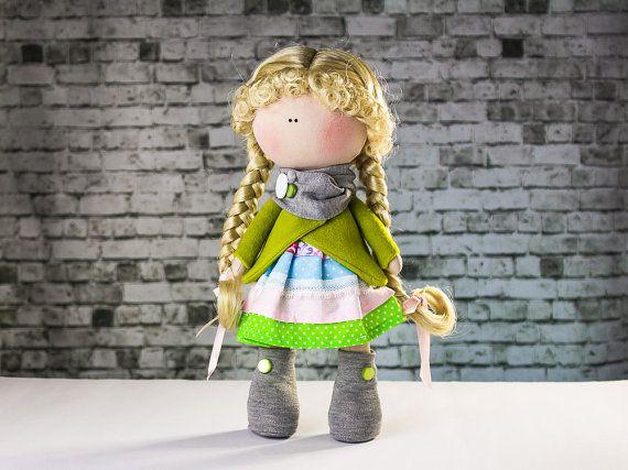 Doll Grace. Tilda doll. Textile doll. Soft toy. Cute от OwlsUa