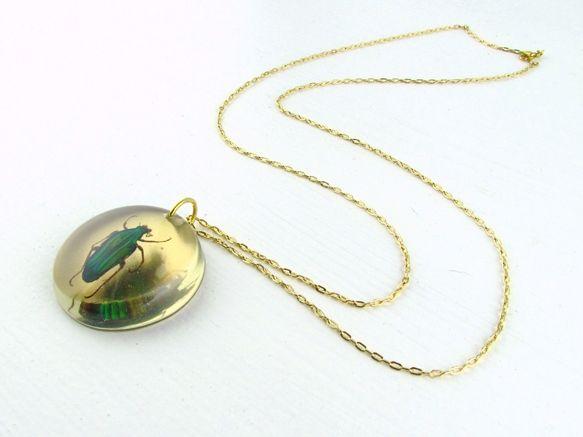 Caliphara Beetle Necklace