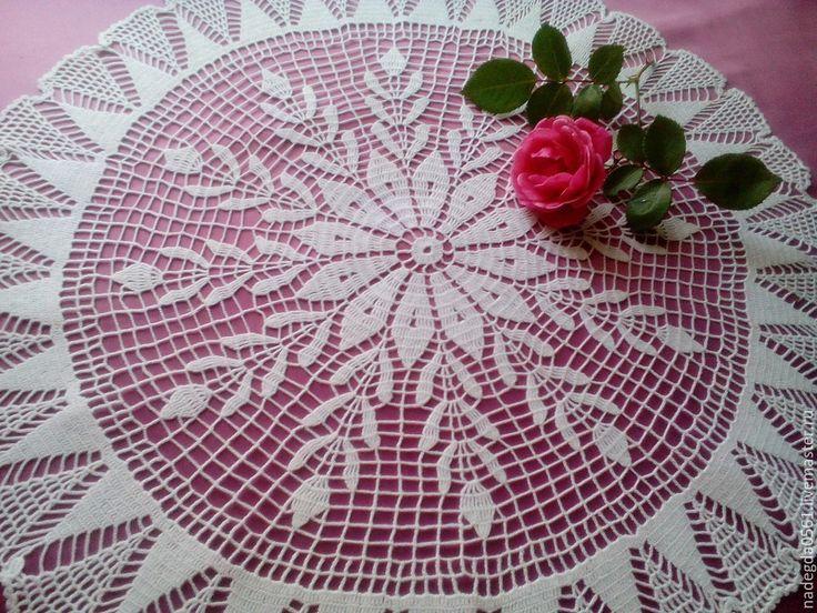 Купить Салфетка 3 - белый, салфетка, салфетка крючком, дорожка на стол, винтаж, текстиль для дома