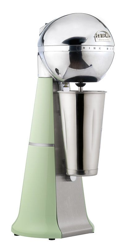 A-2001 Retro Light green ARTEMIS DRINK MIXER with inox cup. #lightgreen