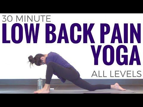 12 Yoga Poses to Help Relieve Lower Back Pain (Yoga Class) - YouTube