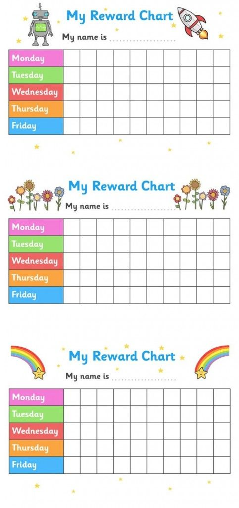 102 best Printable Reward Charts Template images on Pinterest - blank reward chart template
