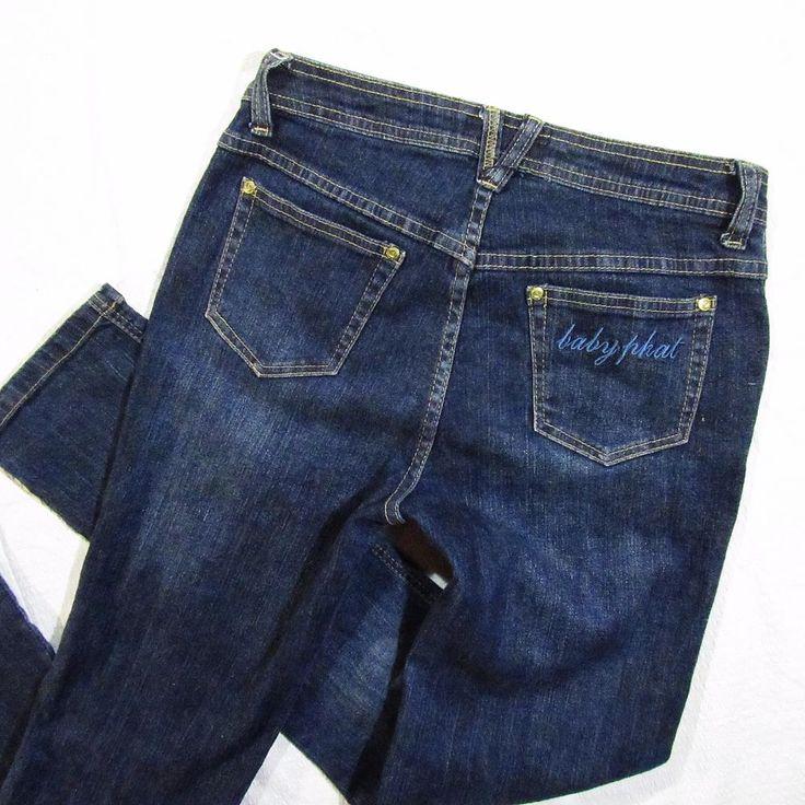 ladies jeans Baby Phat  slim leg, with strech  Size M/L #BabyPhat #StraightLeg