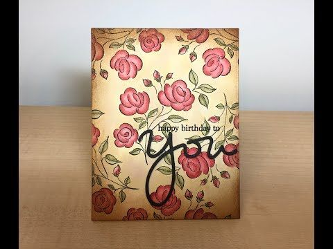 Vintage Birthday Card - Mix and Match Penny Black and SSS - YouTube