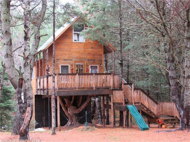 This is a treehouse cabin on 23 acres. It's for sale (asking $90,000) in Springfield, ME. Please enjoy, learn more, and re-share below. Thank you! $90k Treehouse Cabin on 23 Acres For Sale