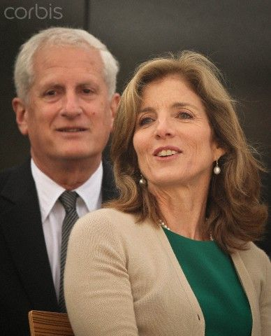 Caroline Kennedy with her husband, Edwin Arthur Schlossberg, pictured at the Quayside in New Ross.