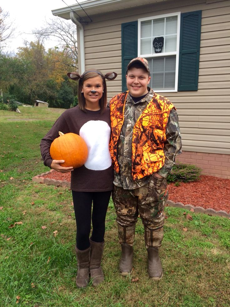 Deer and Hunter couples costume for Halloween.