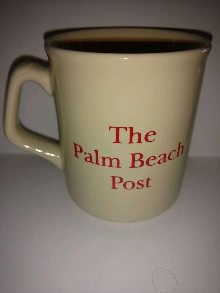 Coffee mug Palm Beach Post newspaper early Sunday addition