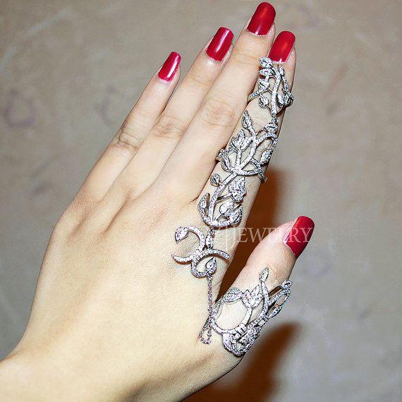 Full Two Finger Rings,Double Finger Ring,Statement Knuckle Ring,Statement Flower Ring,Statement Cocktail Ring,Statement Double Ring, AR0264