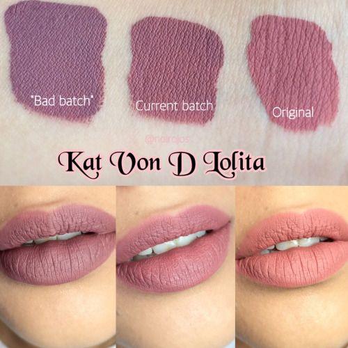 Kat Von D - Lolita Lip Swatches.