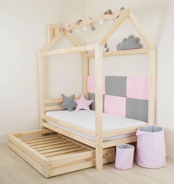 Cottage Children House Bed Happy Drawer Kinderbett Haus