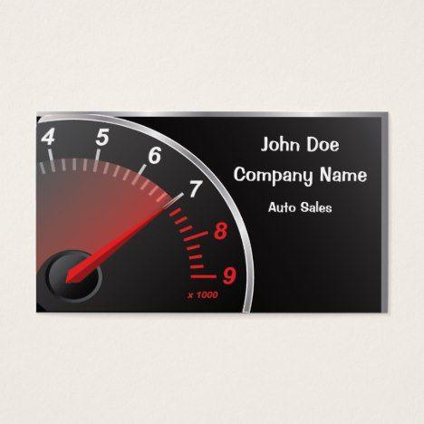 Speedometer Business Card #autorepair #businesscards #bodyshop