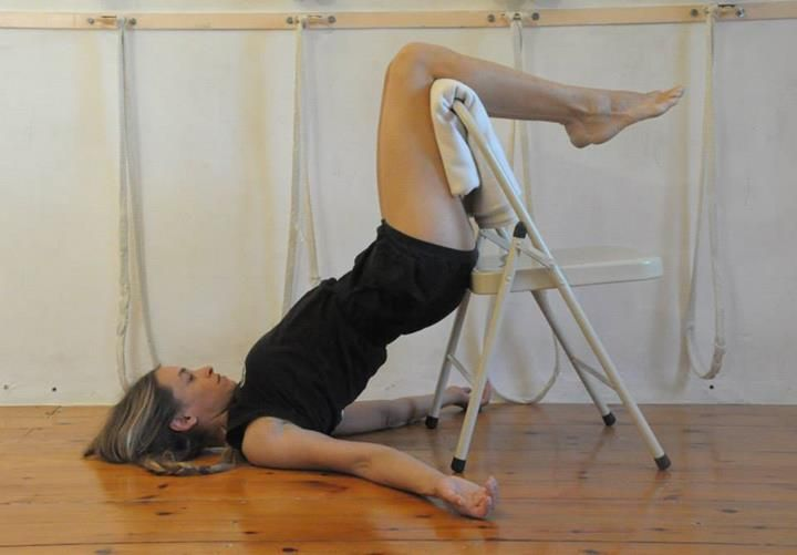53 best iyengar yoga chair inversions images on pinterest for Chaise yoga iyengar