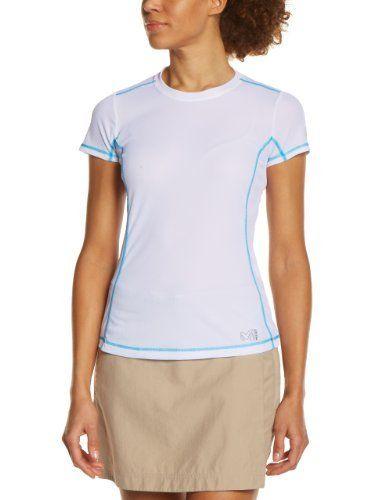 Intéressé(e) par les vêtements de randonnée ? Profitez de nos promotions femme de -20% à -50%*. Visitez également notre boutique Randonnée et Camping.  Millet LD LTK T-Shirt manches courtes femme Blanc/Horizon Blue M MILLET, http://www.amazon.fr/dp/B009T3GWAG/ref=cm_sw_r_pi_dp_l5G.rb1590NVA