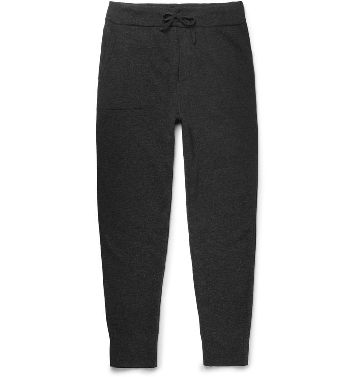 Ralph Lauren Purple Label - Slim-Fit Tapered Mélange Cashmere-Blend Sweatpants