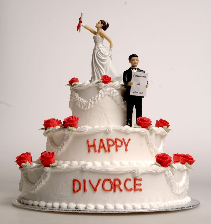 Funny DIVORCE cakes ... People just want to have fun! Happy divorce!